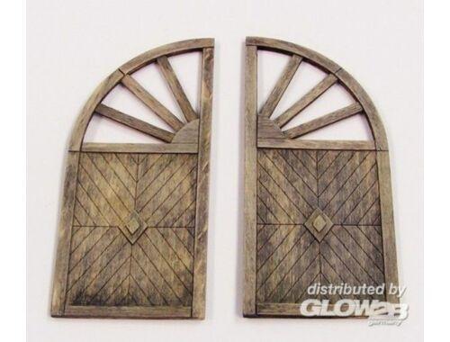 Plus Model Wooden gate - round 1:35 (431)