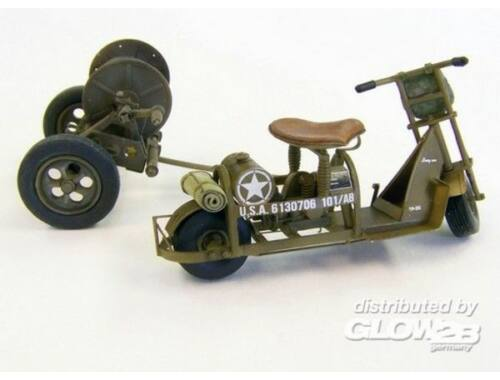 Plus Model U.S. airborne scooter with reel 1:35 (438)