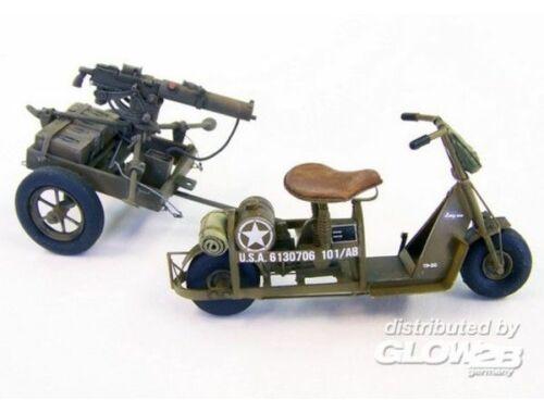Plus Model U.S. airborne scooter with machine gun 1:35 (439)