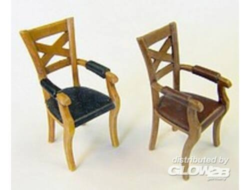 Plus Model Chairs with armrests 1:35 (EL058)