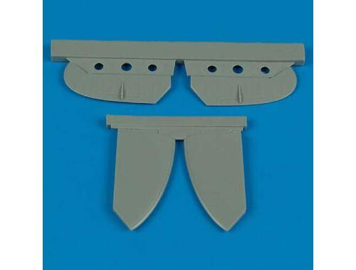 Quickboost Spitfire Mk.V stabilizer for Tamiya 1:48 (48355)