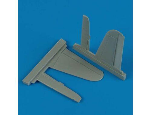 Quickboost Ki-61/Ki-100 stabilizer for Hasegawa 1:48 (48374)