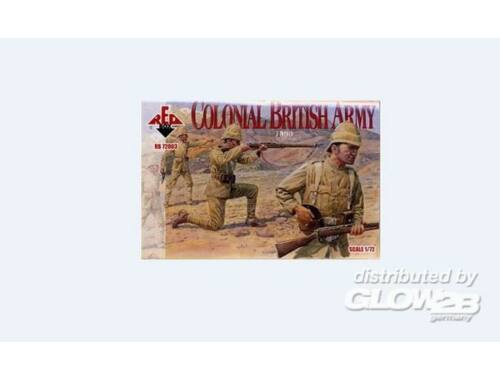 Red Box Colonial British Army, 1890 1:72 (72003)