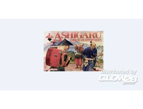 Red Box Ashigaru (Command and support group) 1:72 (72008)