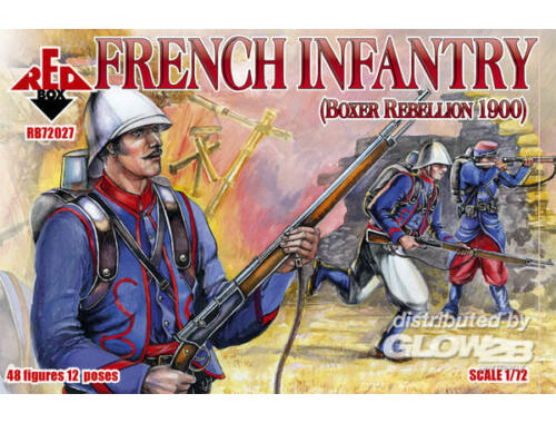 Red Box French Infantry, Boxer Rebellion 1900 1:72 (72027)