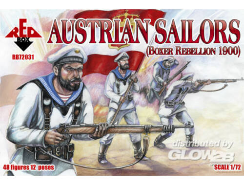 Red Box Austrian sailors, Boxer Rebellion 1900 1:72 (72031)