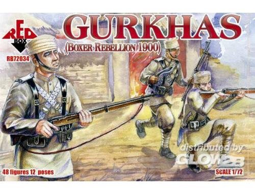 Red Box Gurkhas, Boxer Rebellion 1900 1:72 (72034)