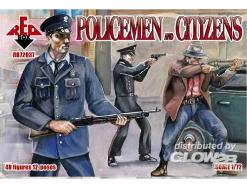Red Box Policemen and citizens 1:72 (72037)