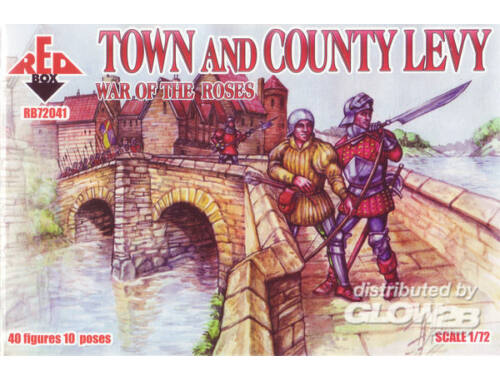 Red Box Town   Country Levy, War of the Roses 2 1:72 (72041)