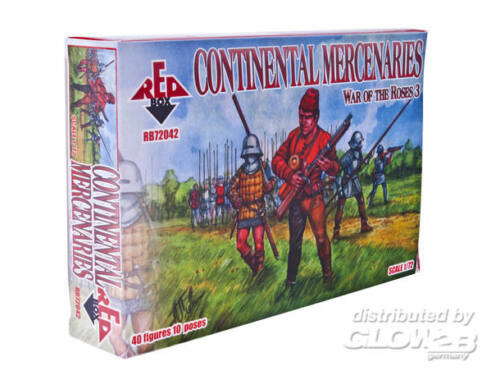 Red Box Continental Mercenaries,War of the Roses 1:72 (72042)