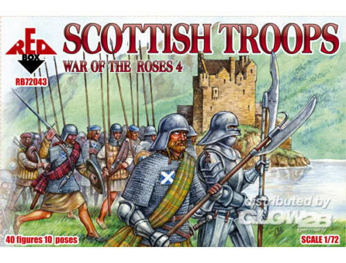 Red Box Scottish troops, war ot the Roses 4 1:72 (72043)