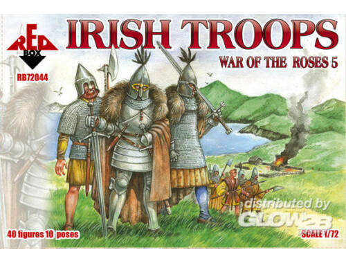 Red Box Irish troops, War of the Roses 5 1:72 (72044)