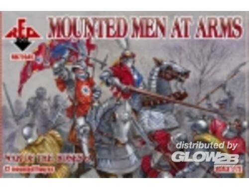 Red Box Mounted Men at Arms, War of the Roses 6 1:72 (72045)