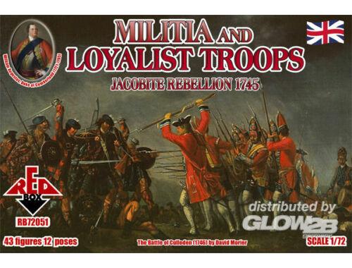 Red Box Militia Loyalist Troops 1745,Jacobite R. 1:72 (72051)