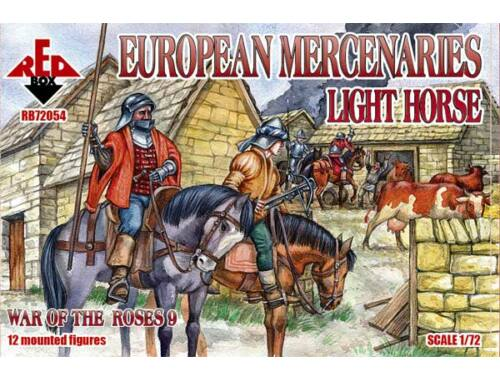 Red Box European mercenaries (light horse) War o 1:72 (72054)