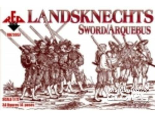 Red Box Landsknechts (Sword/Arquebus) 16th centu 1:72 (72057)