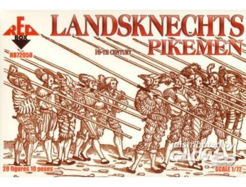 Red Box Landsknechts (Pikemen), 16th century 1:72 (72058)