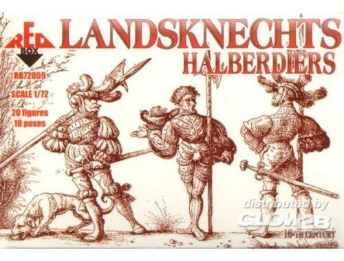 Red Box Landsknechts (Halberdiers),16th century 1:72 (72059)