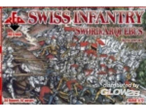 Red Box Swiss Infantry (Sword/Arqebus) 16th cent 1:72 (72060)