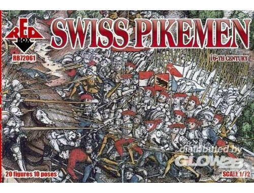 Red Box Swiss pikemen, 16th century 1:72 (72061)