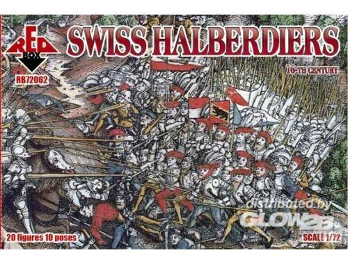 Red Box Swiss halberdiers, 16th century 1:72 (72062)