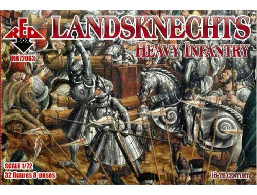 Red Box Landsknechts (Heavy infantry) 16th centu 1:72 (72063)