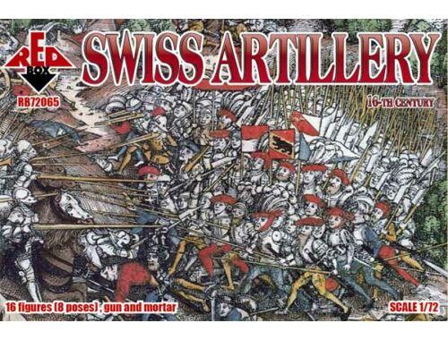 Red Box Swiss artillery, 16th century 1:72 (72065)