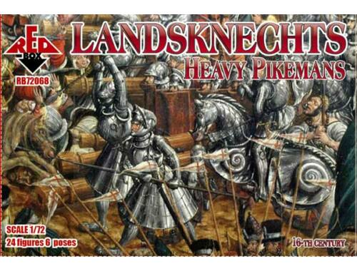 Red Box Landknechts (Heavy pikemen), 16th centur 1:72 (72068)