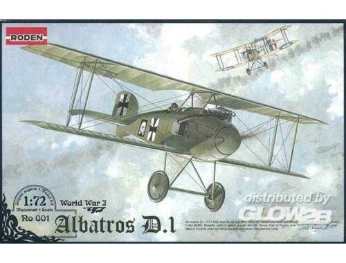 Roden Albatros D.I World War 1 1:72 (001)