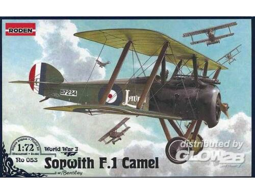 Roden Sopwith F.1 Camel w/Bentley 1:72 (053)