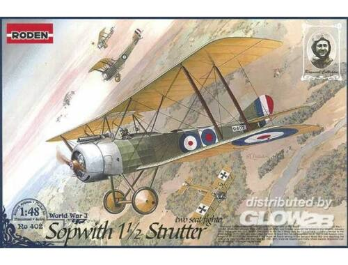 Roden Sopwith 11/2 Strutter two-seat fighter 1:48 (402)