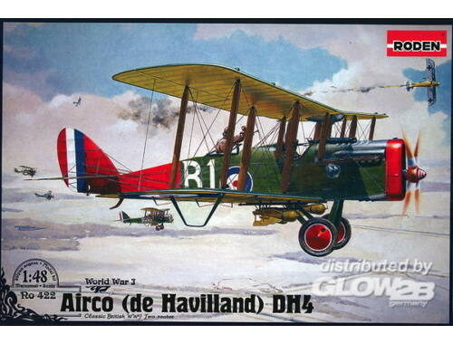Roden De Havilland D.H.4 (Eagle Engines) 1:48 (422)