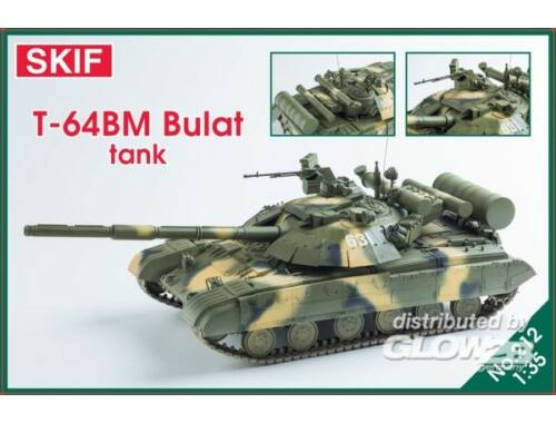 Skif T-64BM Bulat Ukrainian main battle tank 1:35 (212)