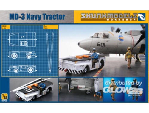 Skunkmodel MD-3 NAVY TRACTOR SHORT TYPE with 3 figu 1:48 (48003)