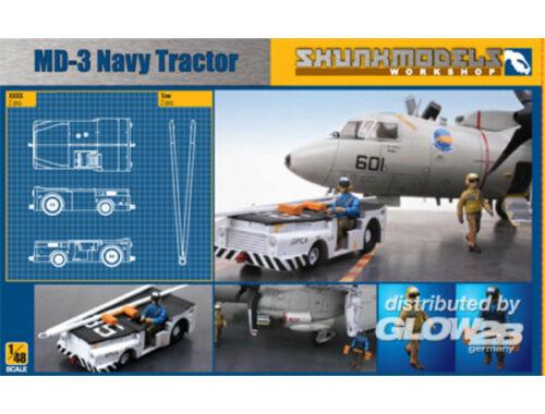 Skunkmodel MD-3 NAVY TRACTOR SHORT TYPE with 3 figu 1:48 (48003)