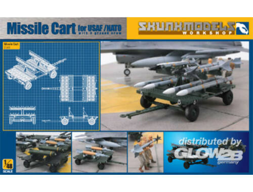 Skunkmodel MISSILE CART FOR USAF/NATO 1:48 (48004)