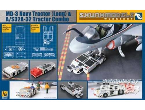 Skunkmodel MD-3 Navy Tractor (long) A/S32A-32 trCom 1:48 (48005)