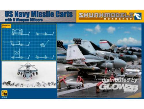 Skunkmodel USN MISSILE CART   FIGURES 1:48 (48023)