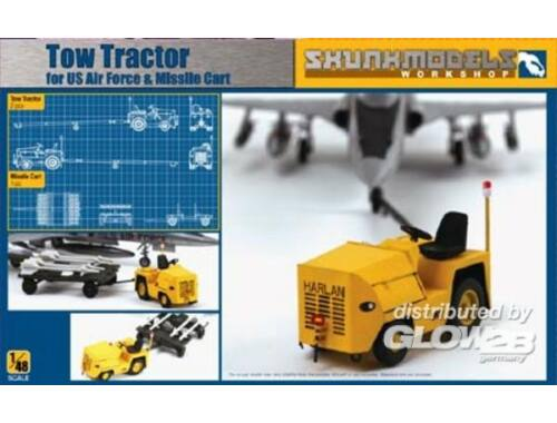 Skunkmodel USAF HARLON TOW TRACTOR W/ MISSILE TRAIL 1:48 (48028)
