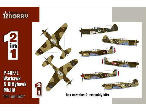 """Special Hobby P-40F/L   Kittyhawk Mk.IIA """"RAF FAFL"""" 1:72 (72211)"""