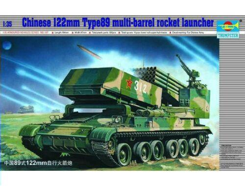 Trumpeter Chinesischer Raketenwerfer 122mm Typ 89 Multi-barrel Rocket Launcher 1:35 (00307)