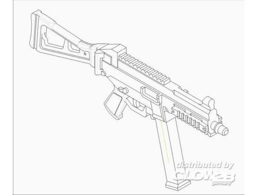 Trumpeter German Firearms Selection-UMP.45 (4guns) 1:35 (524)