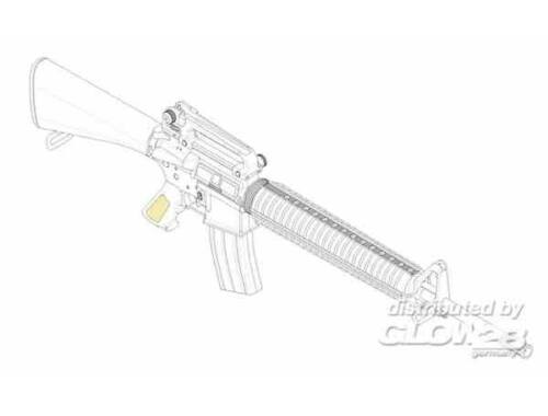 Trumpeter AR15/M16/M4 FAMILY-M16A3 1:3 (1911)