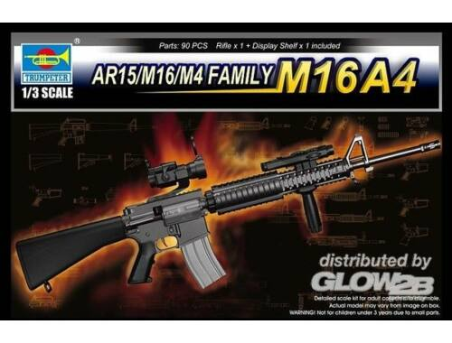 Trumpeter AR15/M16/M4 FAMILY-M16A4 1:3 (1915)