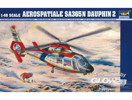 Trumpeter Eurocopter SA 365 N Dauphin 2 1:48 (02816)