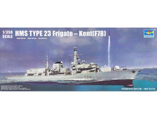 Trumpeter HMS TYPE 23 Frigate - Kent (F78) 1:350 (4544)