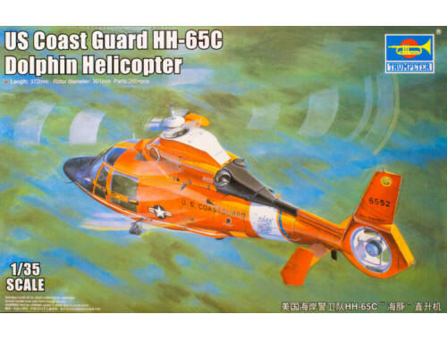 Trumpeter US Coast Guard HH-65C Dolphin Helicopter 1:35 (05107)
