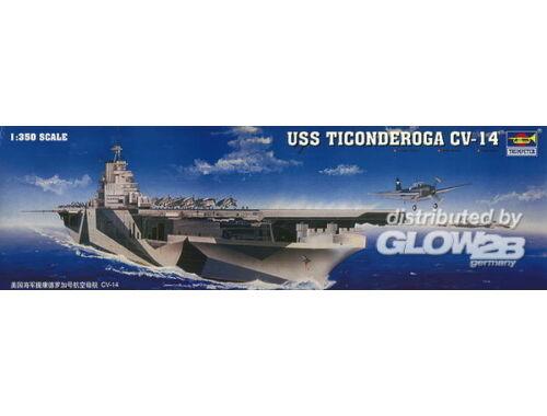 Trumpeter Flugzeugträger USS Ticonderoga CV-14 1:350 (05609)