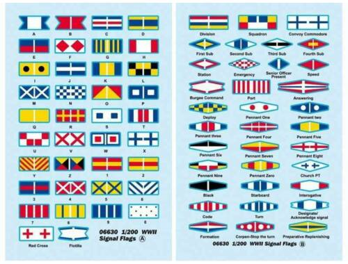 Trumpeter WWII Signal Flags 1:200 (06630)