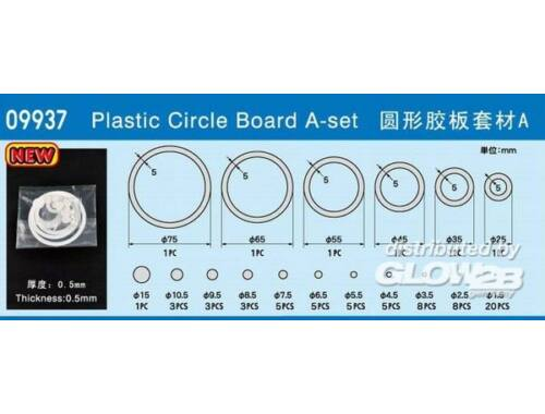 Master Tools Plastic Circle Board A-set (09937)